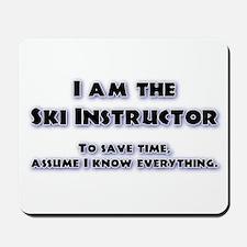 Ski Instructor Mousepad