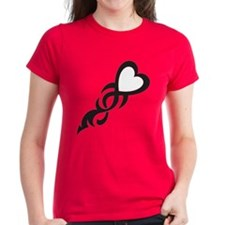Black/White Heart Tee