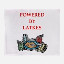 latkes Throw Blanket