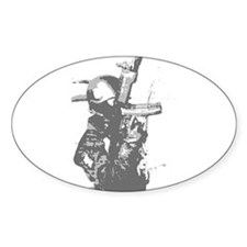 SWAT MP5 rappeling Oval Decal