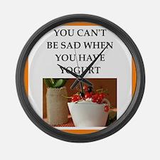 yogurt Large Wall Clock