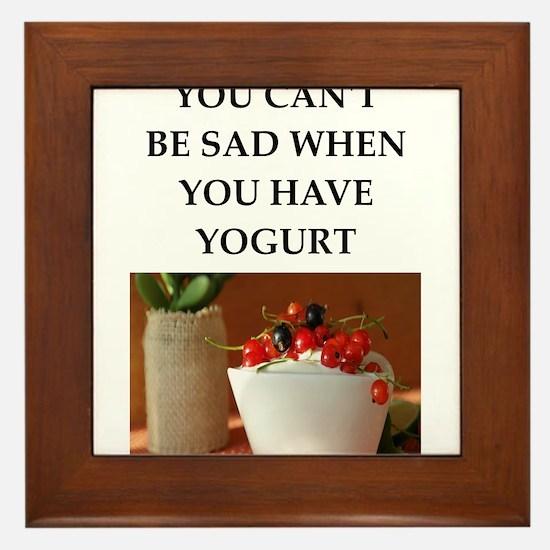 yogurt Framed Tile