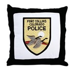 Fort Collins Police Throw Pillow