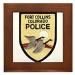 Fort Collins Police Framed Tile