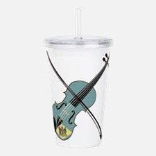Delaware State Fiddle Acrylic Double-wall Tumbler