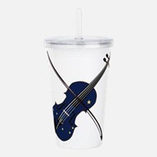 Alaska State Fiddle Acrylic Double-wall Tumbler