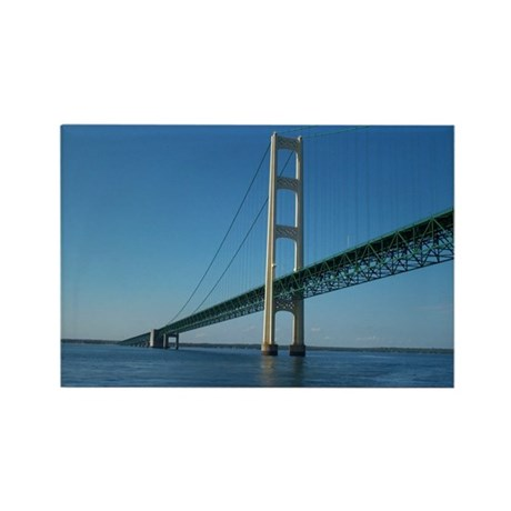 Mackinac Bridge Rectangle Magnet