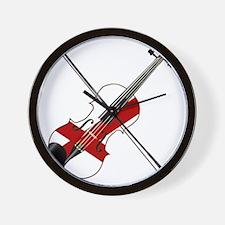 Alabama State Fiddle Wall Clock