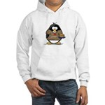 I Love Latkes Penguin Hooded Sweatshirt