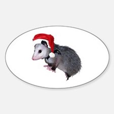 Santa Possum Oval Decal