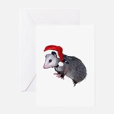 Santa Possum Greeting Card