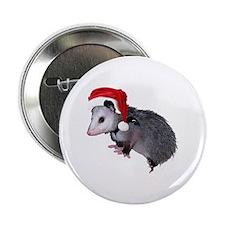 "Santa Possum 2.25"" Button"