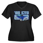 1966 Pontiac GTO Women's Plus Size V-Neck Dark T-S
