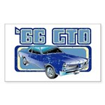 1966 Pontiac GTO Rectangle Sticker