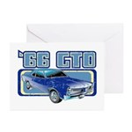 1966 Pontiac GTO Greeting Cards (Pk of 10)