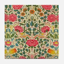 Rose Chintz Pattern Colorful Tile Coaster
