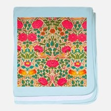 Rose Chintz Pattern Colorful baby blanket