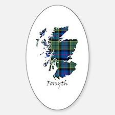 Map - Forsyth Sticker (Oval)