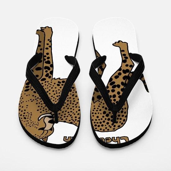Cheetah Flip Flops
