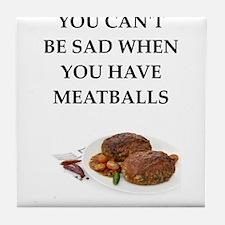 meatballs Tile Coaster