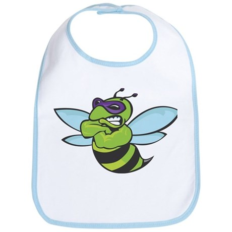 The Mighty Green Bee Bib