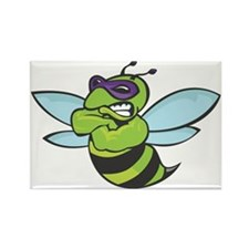 The Mighty Green Bee Rectangle Magnet (10 pack)