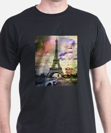 Paris Eiffel Tower Design T-Shirt