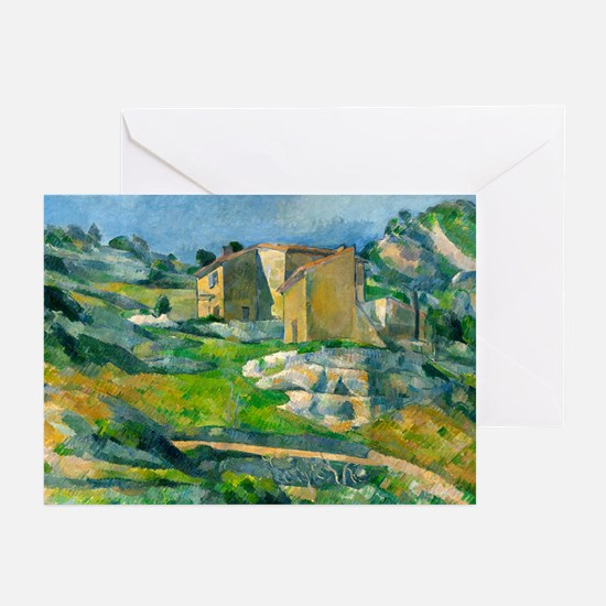 Houses in Provence by Paul Cézanne Greeting Cards