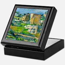 Houses in Provence by Paul Cézanne Keepsake Box
