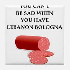 lebanon bologna Tile Coaster
