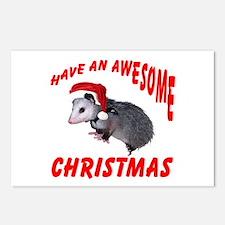 Santa Helper Possum Postcards (Package of 8)