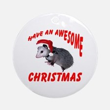 Santa Helper Possum Ornament (Round)