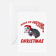 Santa Helper Possum Greeting Cards (Pk of 10)