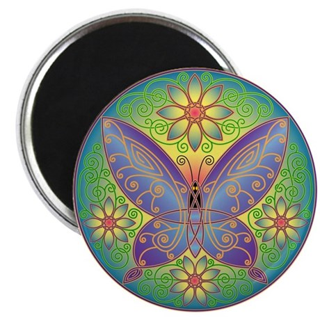 "Celtic Butterfly (violet) 2.25"" Magnet (10 pack)"