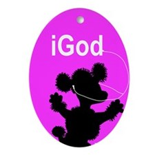 iGod Oval Ornament