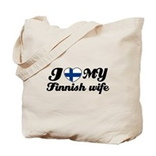 I love my Finnish wife Tote Bag