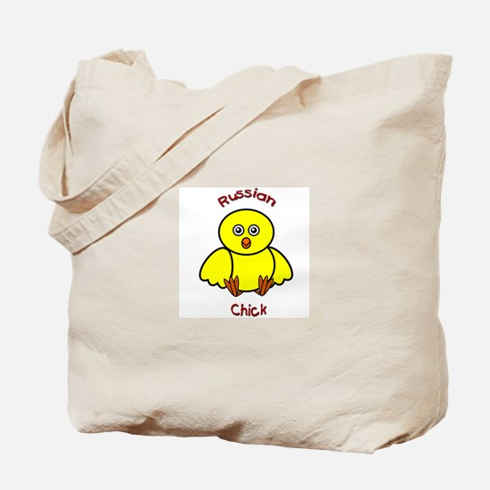 Russian Chick Tote Bag