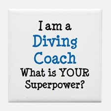 diving coach Tile Coaster