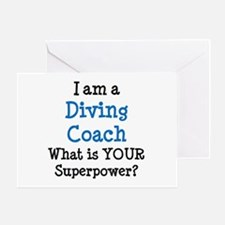 diving coach Greeting Card