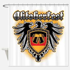 Oktoberfest German Eagle Flag Beer Shower Curtain
