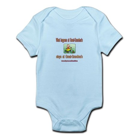 STAYS AT GREAT-GRANDMA'S Infant Bodysuit