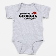 Cute Someone in georgia loves me Baby Bodysuit