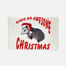 Santa Helper Possum Rectangle Magnet