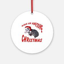 Santa Helper Possum Ornament (Round)