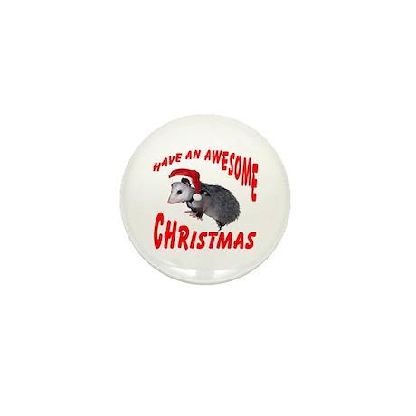 Santa Helper Possum Mini Button (10 pack)