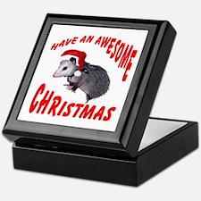Santa Helper Possum Keepsake Box