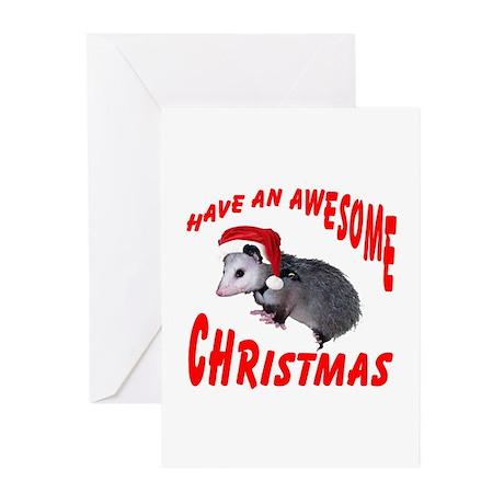 Santa Helper Possum Greeting Cards (Pk of 20)