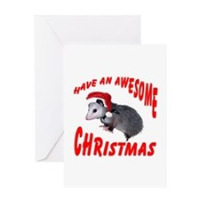 Santa Helper Possum Greeting Card