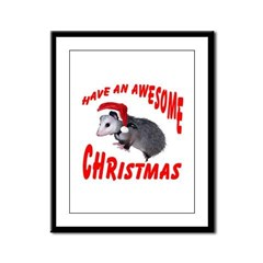Santa Helper Possum Framed Panel Print
