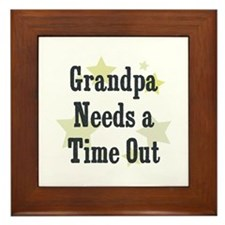 Grandpa Needs a Time Out Framed Tile
